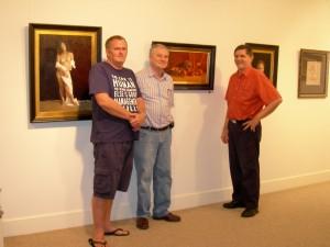 Australian Artist Bruce Rowland, Mark Widdup and Cooks Hill Galleries Client | Art Affair |Australian Art