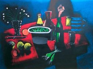 """The Red Tablecloth"" by Australian Artist Charles Blackman | Art Affair | Australian Art"