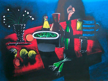 The Red Tablecloth by Charles Blackman | Art Affair | Cooks Hill Galleries