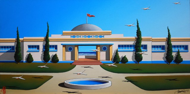"""Pavillion On Sea"" by James Willebrant, Australian Artist 