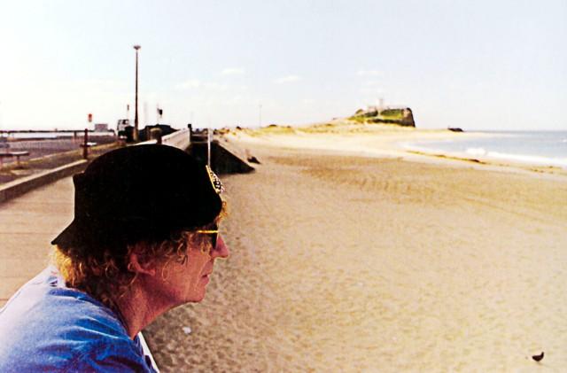 Brett Whiteley at Nobby's Beach Promenade with the Author