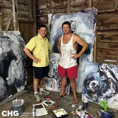 Mark Widdup & Australian Artist, James Kearns